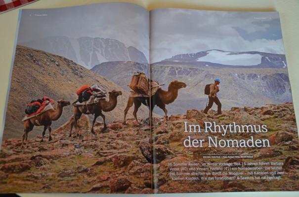 Eine Familie lebt im Rhythmus der Nomaden. Quelle: 4-seasons Magazin IV 2013, S. 8-23 entdecker-greise.de