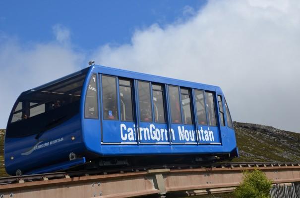 Die Schienenseilbahn Caingorm Mountain Railway - leider für Hunde verboten! ©entdecker-greise.de