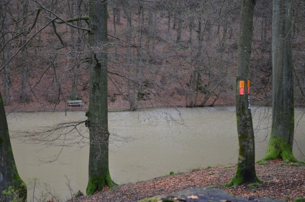 Nochmal der Kadettenweiher, in dem künftige Offiziere einst das Schwimmen lernen sollten. ©entdecker-greise.de