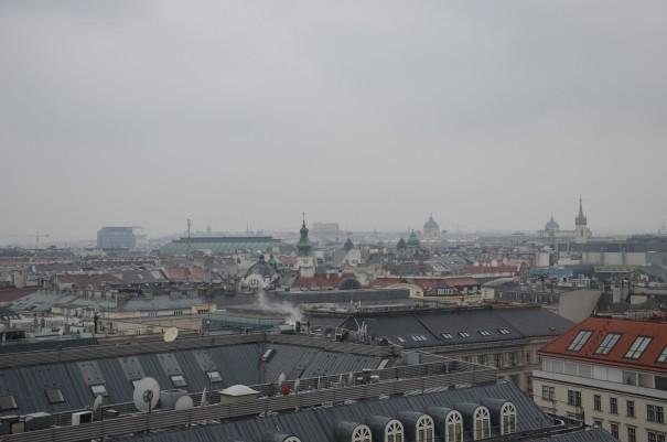 Weitblick aus dem Schick des Hotels am Parkring - auch im Regen ein Erlebnis. ©entdecker-greise.de