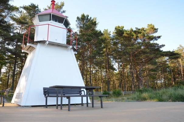 Kleiner Leutturm am Strand Sjosanden. ©entdecker-greise.de