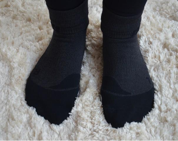 Hohe Funktionalität und perfekte Paßform bei den Run Merino Short Cut Socks von CEP