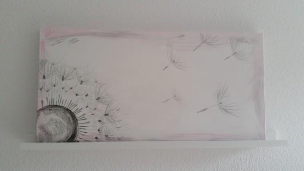 ... und mein Kunstwerk Influence schmückt von nun an den Eingangsbereich ;-) ... und mir gefallen beide Bilder richtig gut! ©entdecker-greise.de