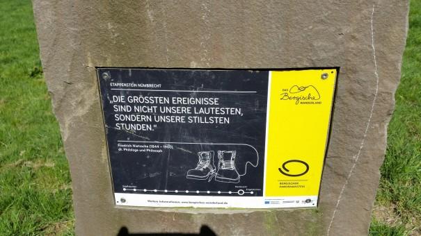 Der Klangpfad teile sich einen kleinen Teil der Strecke mit dem Bergischen Panoramasteig. ©entdecker-greise.de