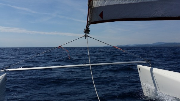 Das Segeln mit dem Katamaran ist für mich ein riesiges Abenteuer! ©www.entdecker-greise.de #corfelios