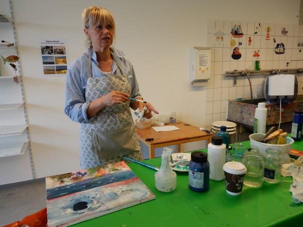 Malkurs bei Marlies Eggers auf Langeoog - ein ganz besonderes Erlebnis von aktiver Entspannung und kreativem Prozess. ©www.entdecker-greise.de